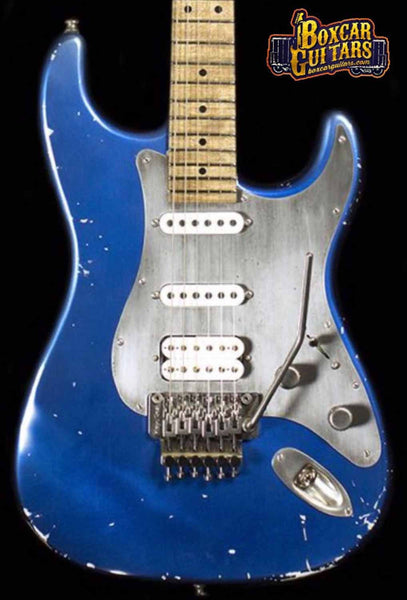 Luxxtone Choppa S Distressed Blue 1 Boxcar Guitars