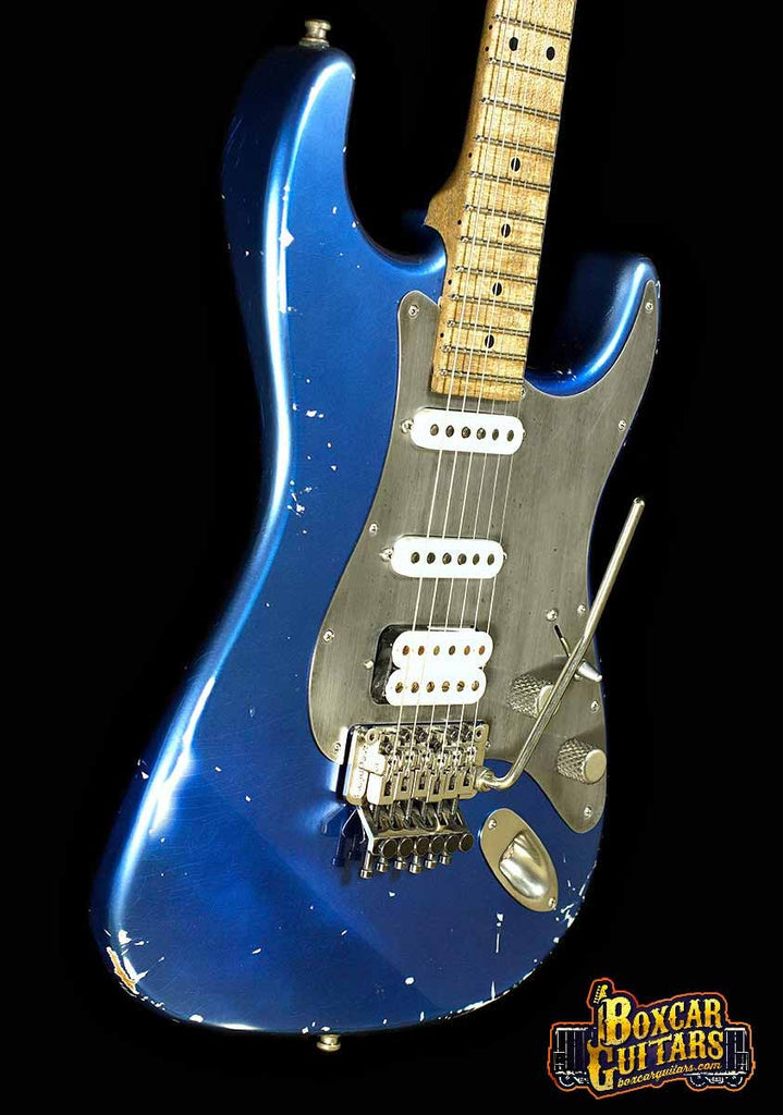Luxxtone Choppa S Distressed Blue 2 Boxcar Guitars
