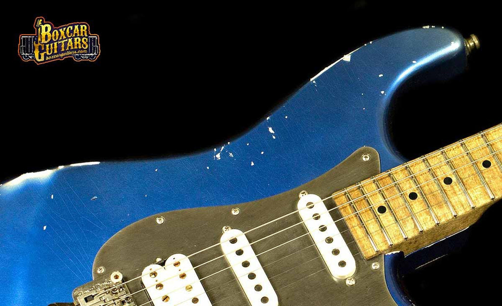 Luxxtone Choppa S Distressed Blue 3 Boxcar Guitars