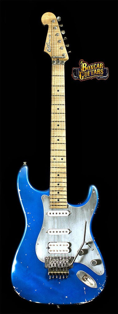 Luxxtone Choppa S Distressed Blue 6 Boxcar Guitars