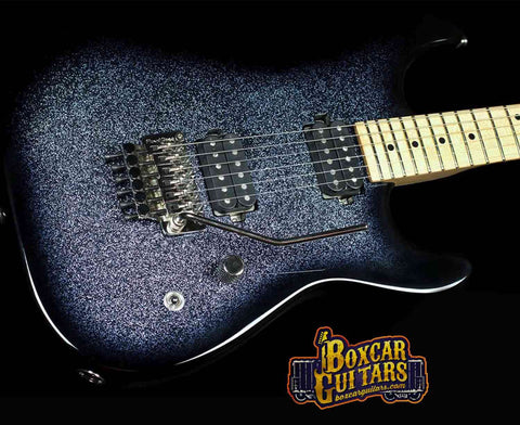 Luxxtone El Machete Blue-Black Sparkle Burst 1 Boxcar Guitars