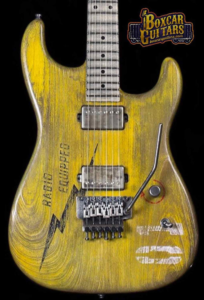 Luxxtone El Machete Boxcar Yellow 1 Boxcar Guitars