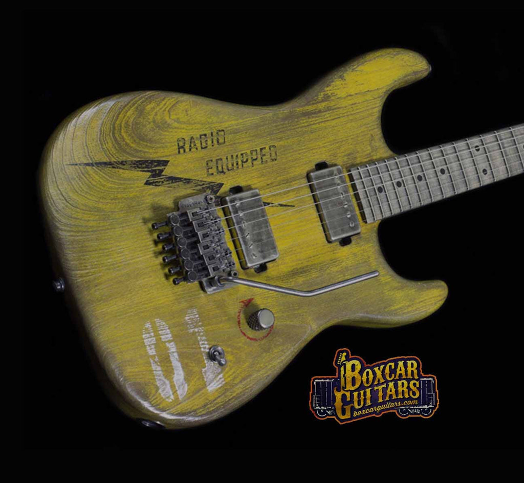 Luxxtone El Machete Boxcar Yellow 2 Boxcar Guitars