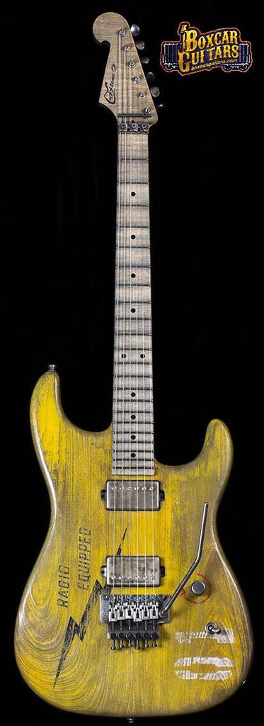 Luxxtone El Machete Boxcar Yellow 3 Boxcar Guitars