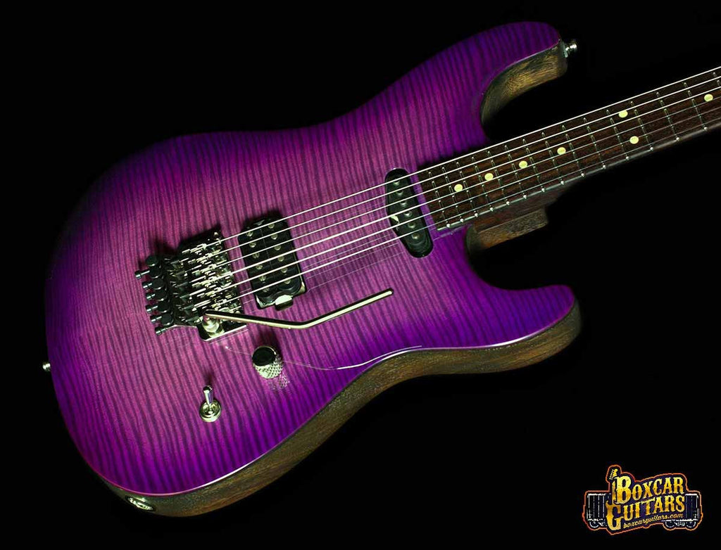 Luxxtone El Machete Purple Burst Geode 2 Boxcar Guitars