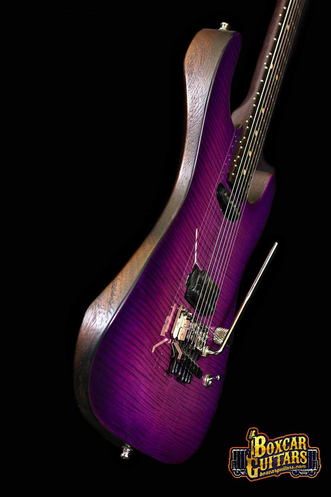 Luxxtone El Machete Purple Burst Geode 3 Boxcar Guitars