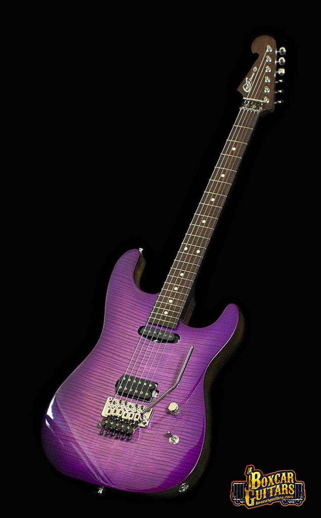 Luxxtone El Machete Purple Burst Geode 4 Boxcar Guitars