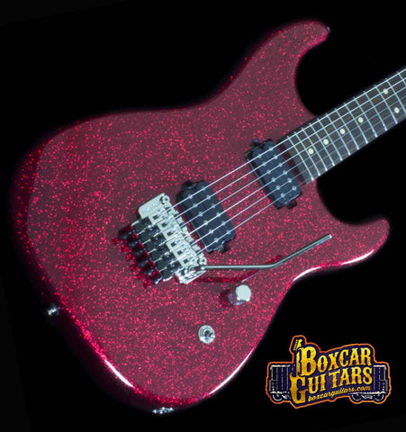 Luxxtone El Machete Red Sparkle 1 Boxcar Guitars