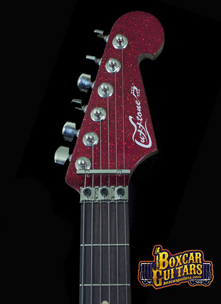 Luxxtone El Machete Red Sparkle 6 Boxcar Guitars