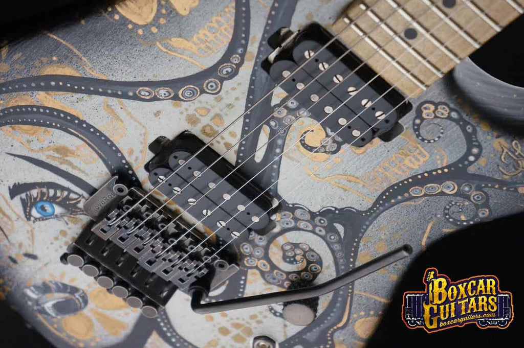 Luxxtone El Machete with Trisha Lurie Art 3 Boxcar Guitars