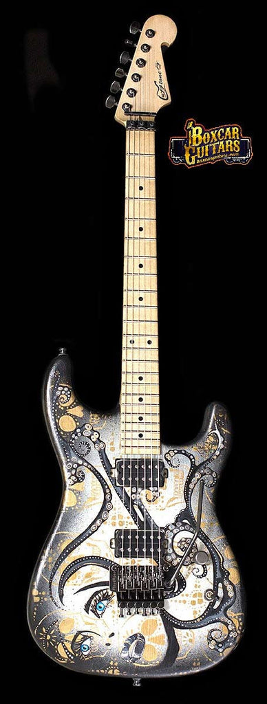Luxxtone El Machete with Trisha Lurie Art 5 Boxcar Guitars