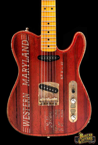 Paoletti Custom Tele Boxcar Red 1 Boxcar Guitars