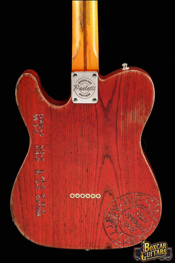 Paoletti Custom Tele Boxcar Red 2 Boxcar Guitars