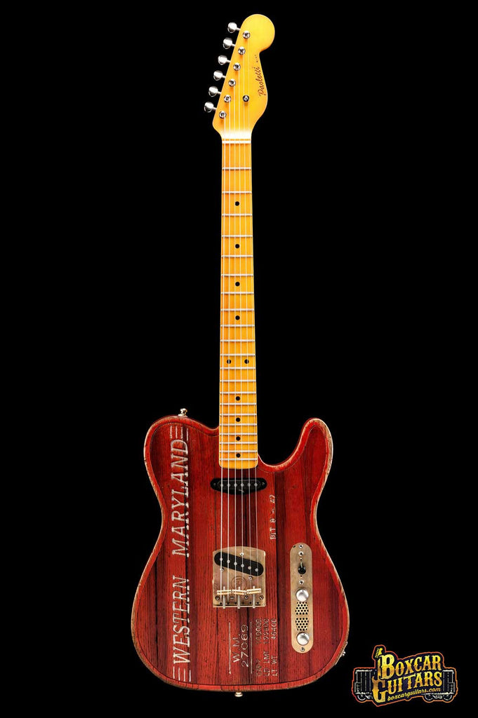 Paoletti Custom Tele Boxcar Red 3 Boxcar Guitars