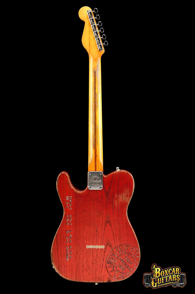 Paoletti Custom Tele Boxcar Red 4 Boxcar Guitars