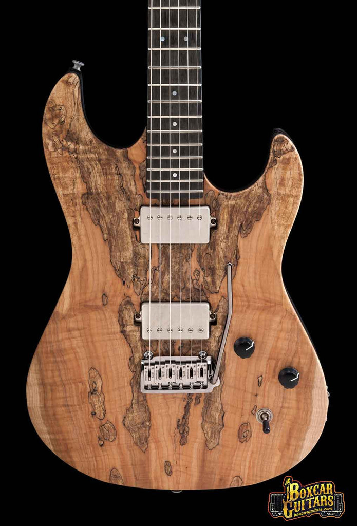 Patrick James Eggle '96 Drop Top Spalted Maple 1 Boxcar Guitars