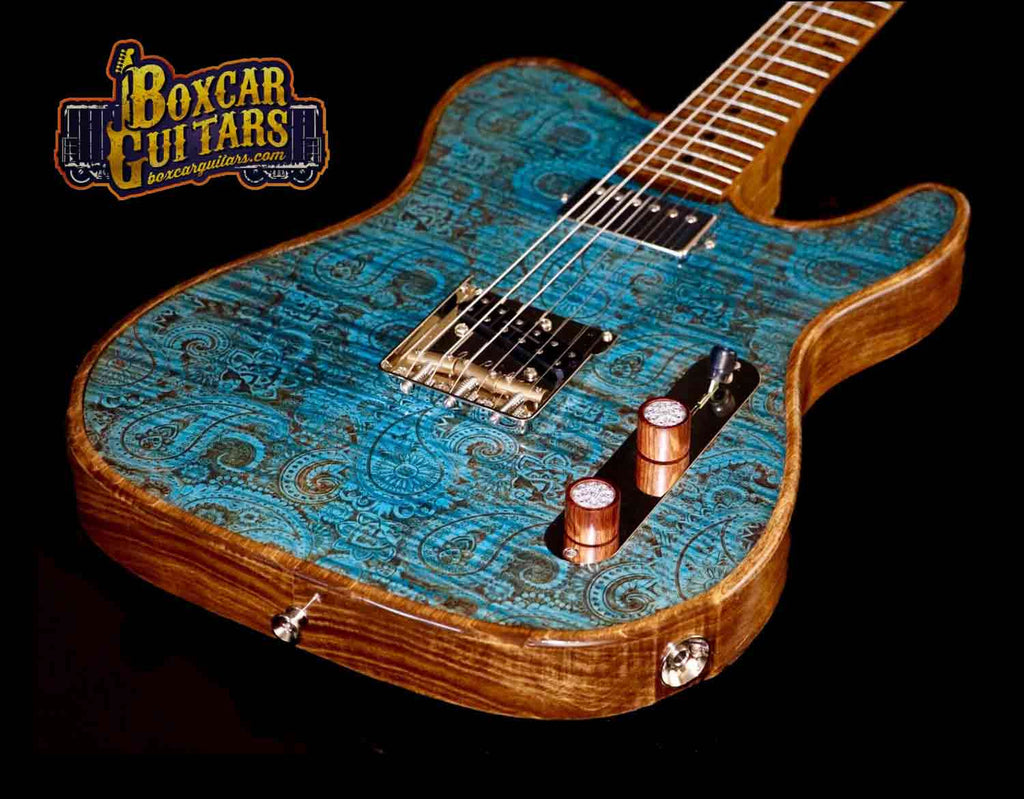 Walla Walla Blue Paisley T-Top 2 Boxcar Guitars