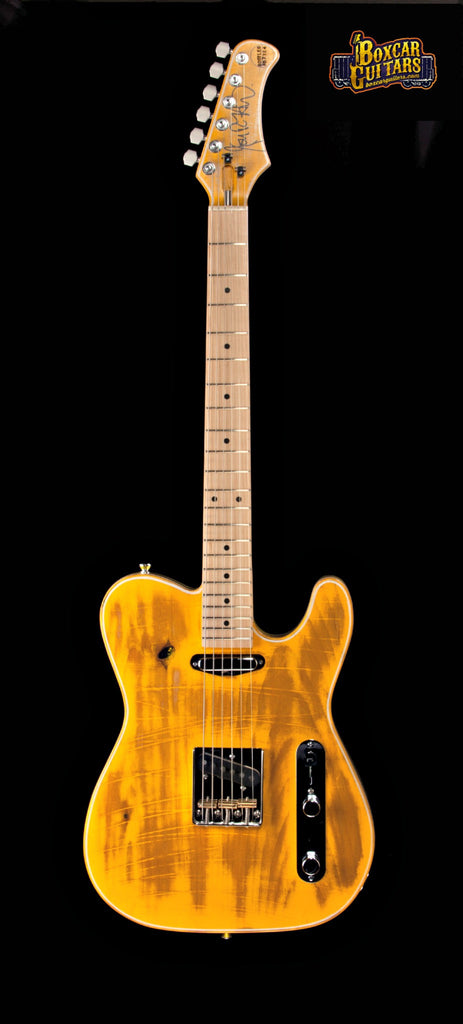 Bootleg Boathouse Tele Weathered Yellow