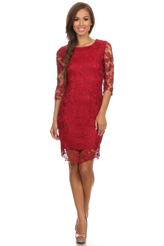 Hopeless Romantic Lace Shift Dress