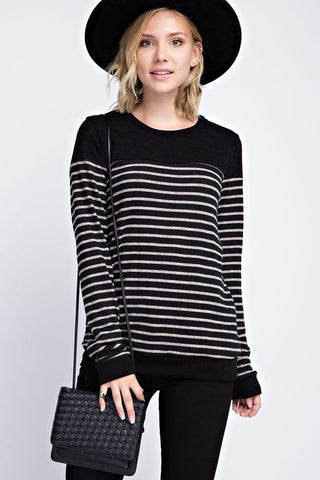 B&W Striped Sweater