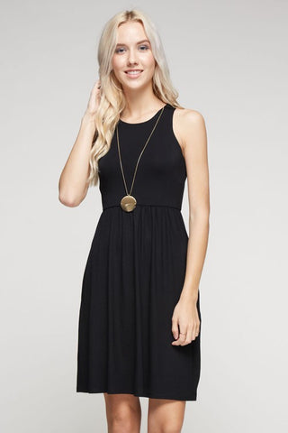Alyssa Racerback Dress in Black