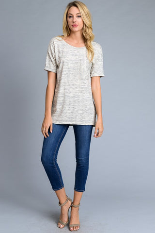Marbled Tunic in Heather Grey