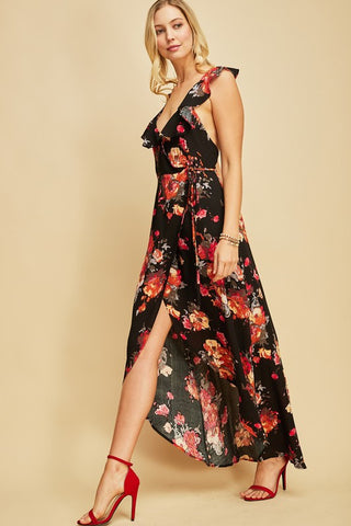 Camellia Floral Wrap Dress