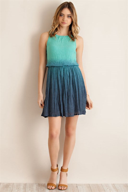 Ombre Crinkle Dress - ROUTE 32