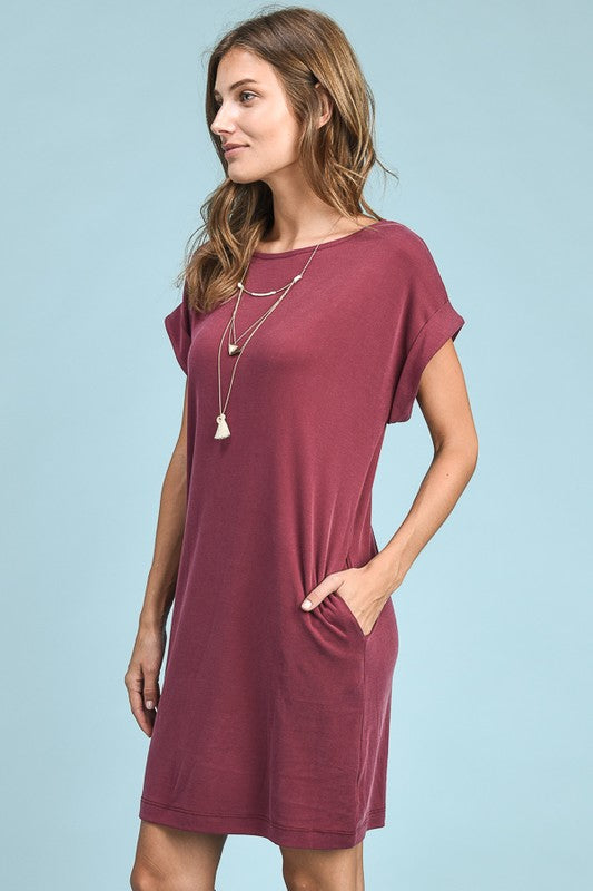 eb4f628ee74e Buy Cuffed Sleeve T-Shirt Dress at ROUTE 32 for only   24.99
