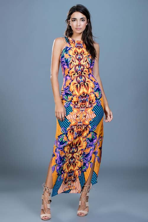Feisty Floral Maxi Dress - ROUTE 32