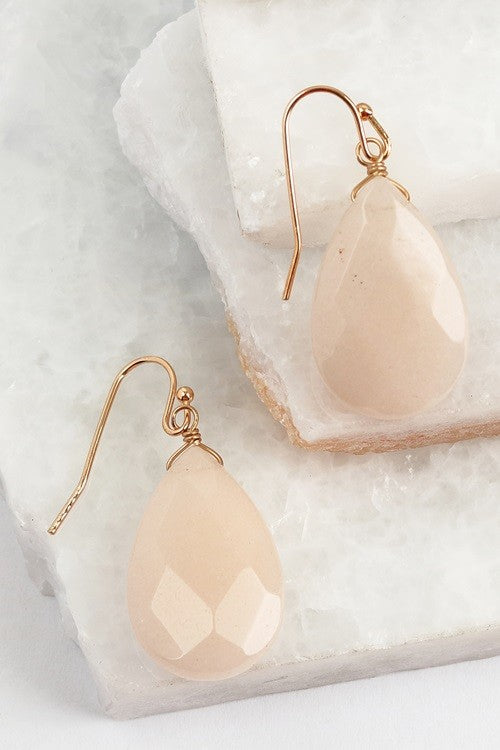 Drop Earrings - Blush - ROUTE 32