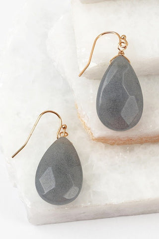 Drop Earrings - Gray