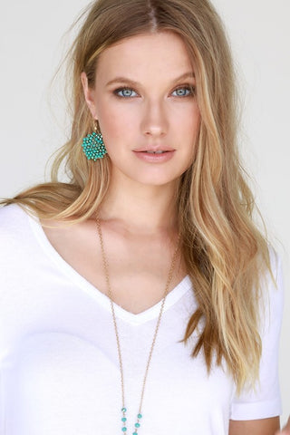 Elliott Beaded Earrings - Mint