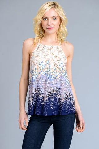 Iris Floral Ombre Top