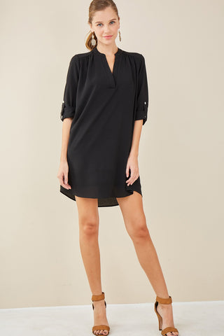 Nadia V-Neck Shirtdress