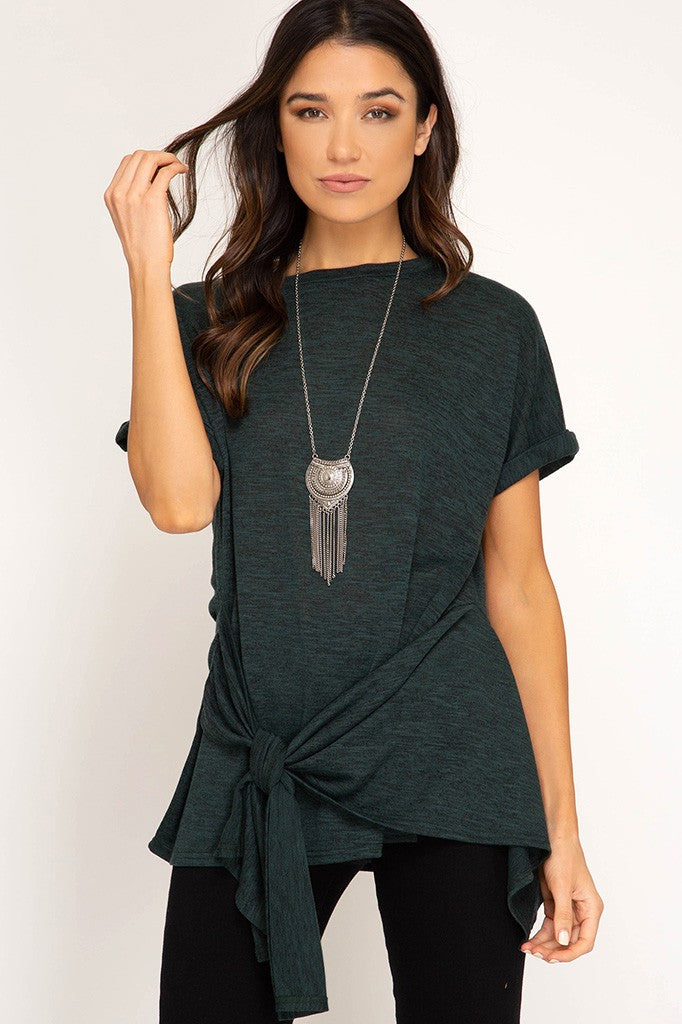 Paige Twist Top in Sea Green - ROUTE 32