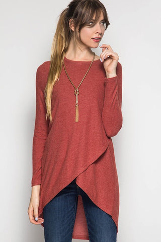 Ansley Tunic in Brick