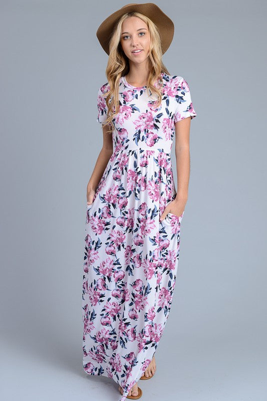 Mimi Floral Short Sleeve Dress