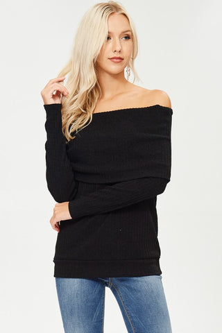 Lightweight Foldover Sweater