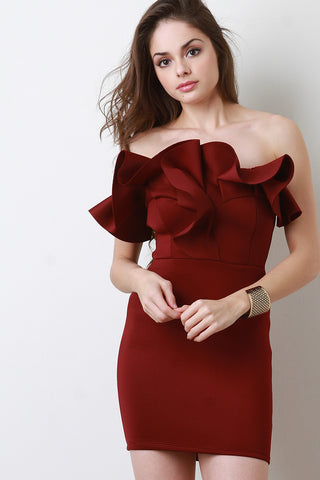 Carla Ruffled Cocktail Dress