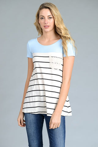 Color Block and Stripe Tee