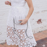 Cassie Lace Dress in White - ROUTE 32