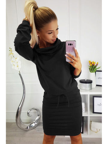Kyle Sweater Dress in Black