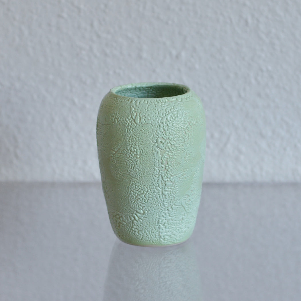*ONE OFF* Dewy Glaze Vase in Honeydew
