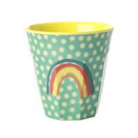 Medium Melamine Cup with Rainbow and Stars Print