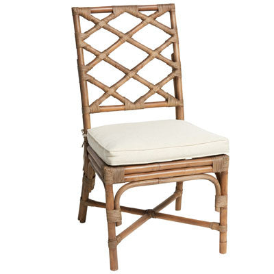 Abaca Diamond Cane Dining Chair