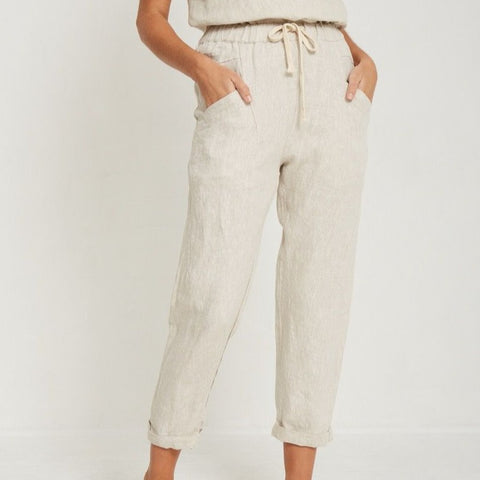Luxe Linen Pants Cream