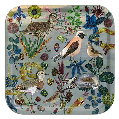 Birds in the Dunes Birch Wood Tray