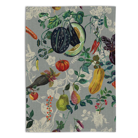 Nathalie Lete Veggies Kitchen TEA TOWEL