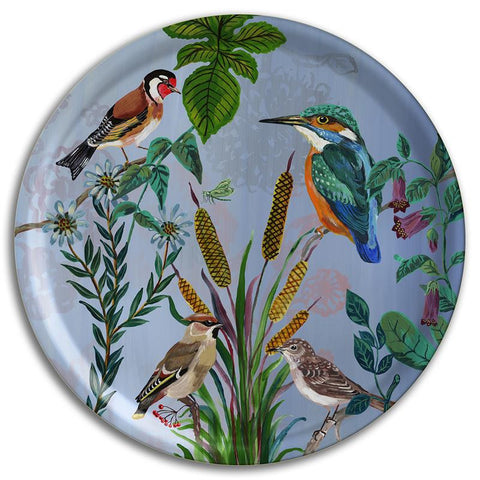 Kingfisher Round Tray